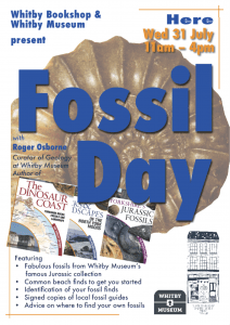 Whitby Bookshop and Whitby Museum present Fossil Day at the Whitby Bookshop, 31st July 2019, 11am - 4pm