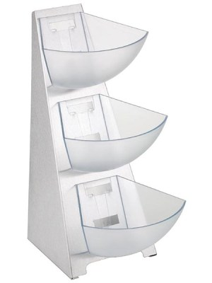 2 & 3 tier multi rack made from stainless steel with 1 litre bins perfect for condiments and general buffet use