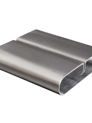 Highly polished 18/10 stainless steel base. Size (mm): 18(H) x 80(W) x 78(D).
