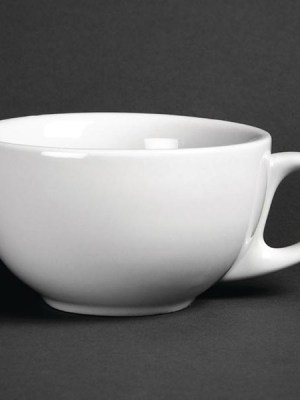 Great value porcelain cappuccino cups from Athena Hotelware which is tough
