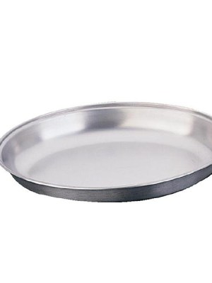 Stainless steel oval serving dish undivided. A range of sizes