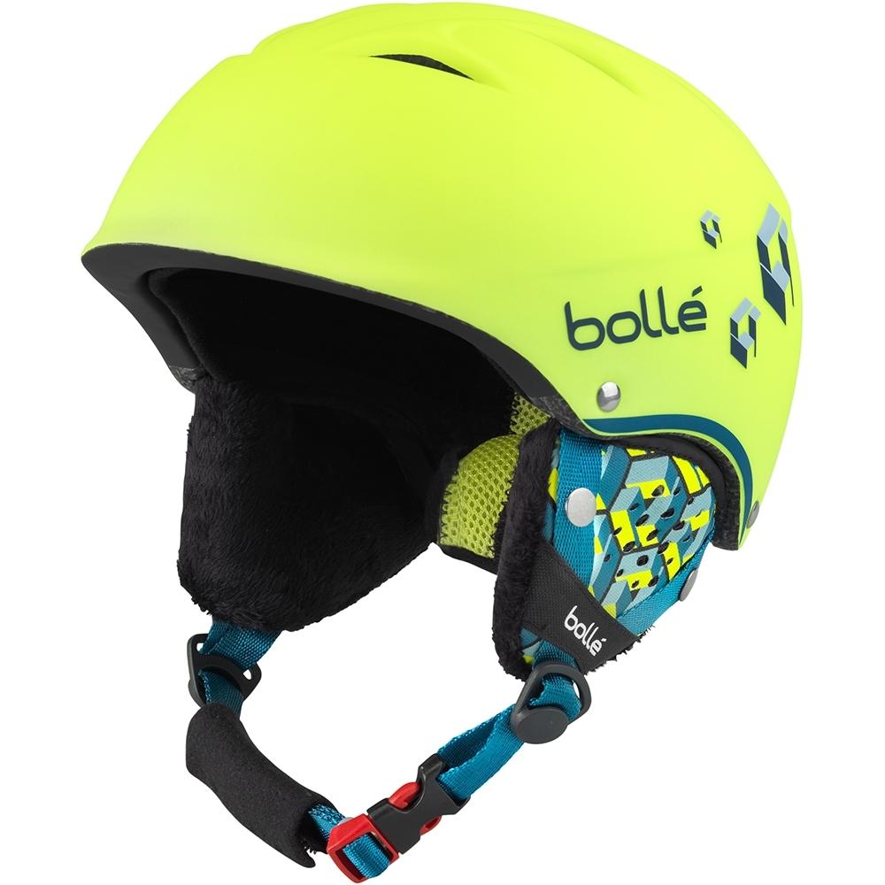 Bolle B-Free Junior Ski Helmet in Soft Neon Yellow Blocks