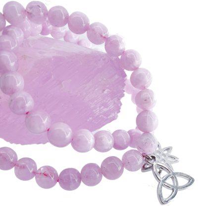 Bracelet kunzite avec charms - By White Alpina - Différentes tailles