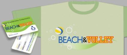BEACH&VOLLEY : Associazione Sportiva di Volley e Beach Volley (2010 logo & corporate id.)