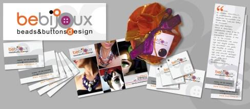 BEBIJOUX - beads & buttons design : collane e bijoux fatti a mano (2010 logo, web & corporate id.)