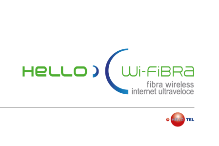 Hello Wi-FiBRA - 2017 rebranding per HELLOTEL Telecomunicazioni: logo, corporate and digital id.