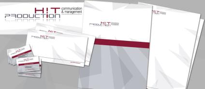 HIT Production : agenzia di comunicazione, pubbliche relazioni, media planning e organizzazione eventi (2011 logo, corporate id. & website)