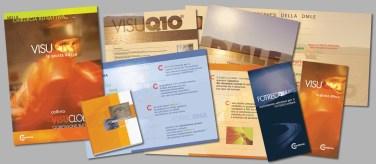 Gordian per VISUFARMA SpA : produzione di farmaci oftalmici (2001 stampa materiale informativo)