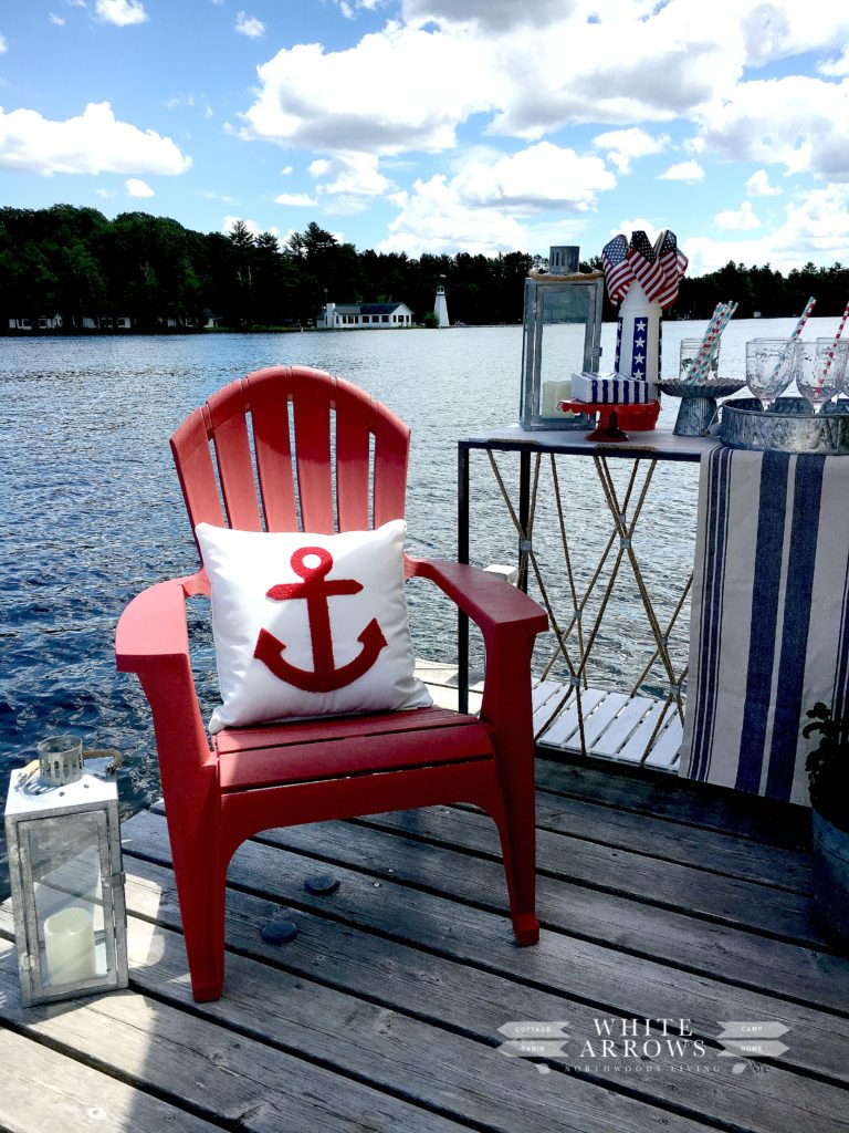 adirondack chairs walmart burgundy chair covers dock party ~ white arrows home