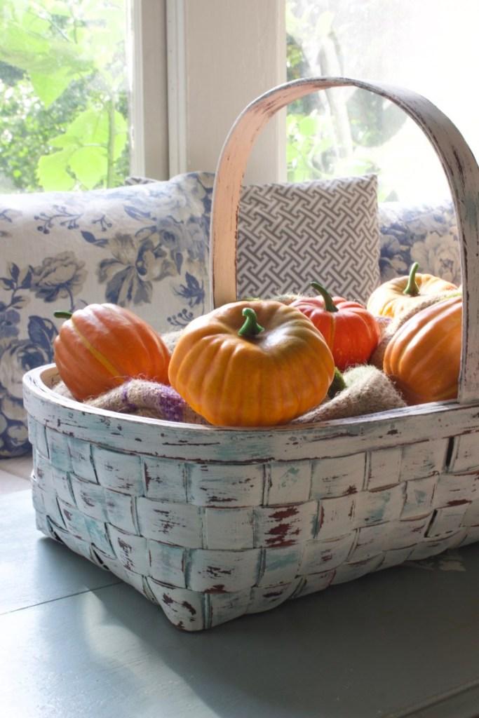 Fall Decor, Autumn Decor, Pumpkins, Basket, A Delightsome Life