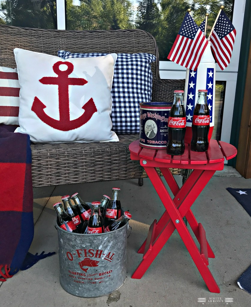 Memorial-Day-Fourth-of-July, 4th of July, Porch Decor, Patriotic Decor, Nautical Decor, Vintage Decor