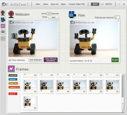 JellyCam Stop Motion Software