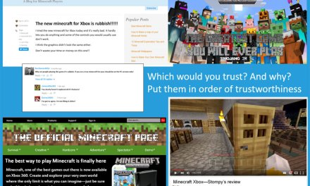 Trust Me – Supporting Critical Thinking Online