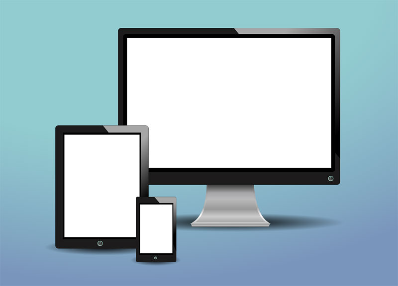 tablet and pc screen