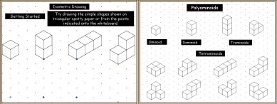 A PowerPoint math or maths presentation on Isometric Drawing