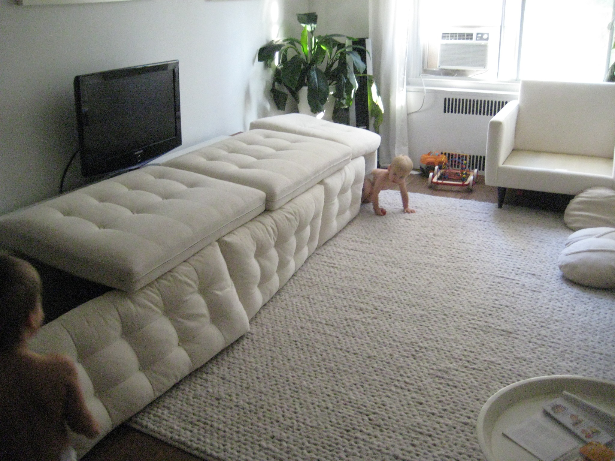 crate and barrel petrie sofa