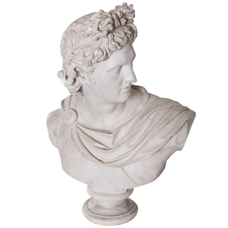 plaster-head-apollo-1st dibs