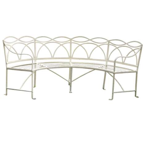 wrought iron regency garden bench