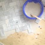 Uptown: Herringbone Tile Installation Process