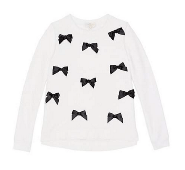 bow sweatshirt-Kate Spade