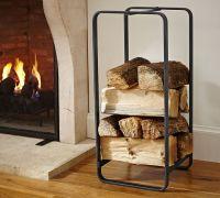 Design: Fireplace Log StorageWhite Cabana | White Cabana