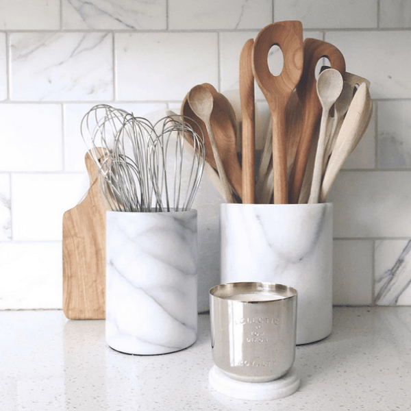 Two For Tuesday: Marble Accessories For The KitchenWhite