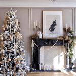 Christmas: The Asymmetrical Mantel Design Trend