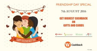 cashback on friendship day gifts