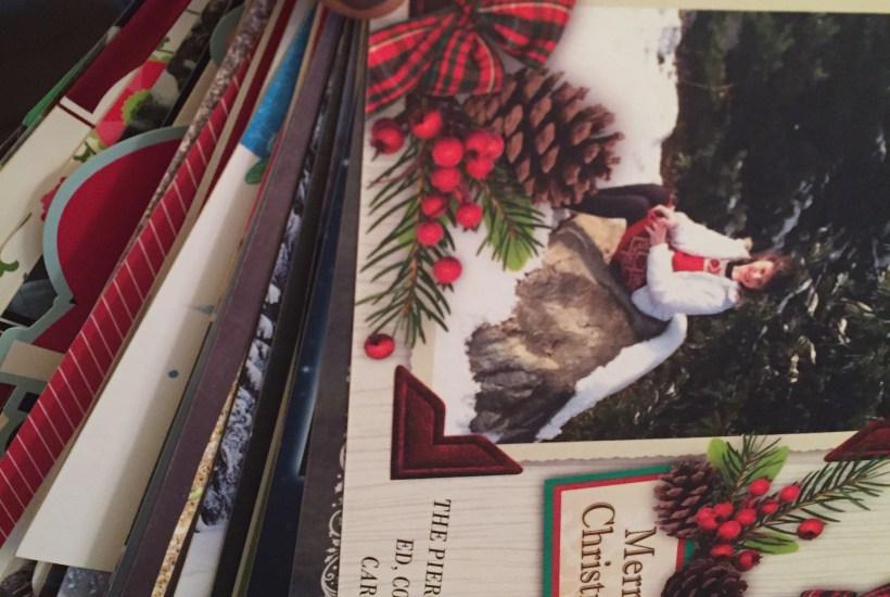 Christmas card- reusing christmas cards- christmas card ring- prayer cards- prayer ring- do it yourself