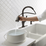 Looking for a Simple & Budget Friendly Kitchen Update? Look No Further Than a Kohler Faucet for a Brand New Look