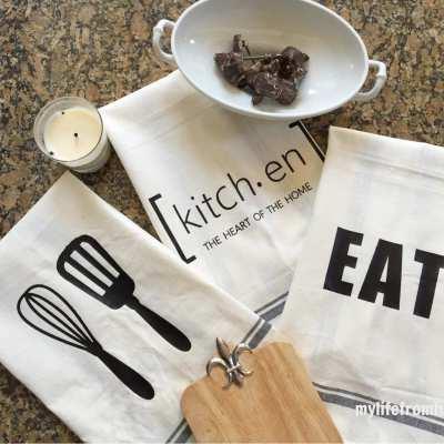 Craft Ideas-Silhouette Challenge: Kitchen Towels