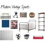One Room Challenge {ORC}: Week #4 Modern Vintage Sports Bedroom