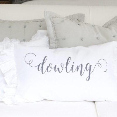 Custom pillows and handmade items- linens- ruffles- personalized- pillowcases- handmade- details- ruffle covers