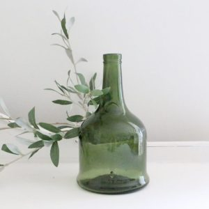 green, glass, bottle, French, vase, decor