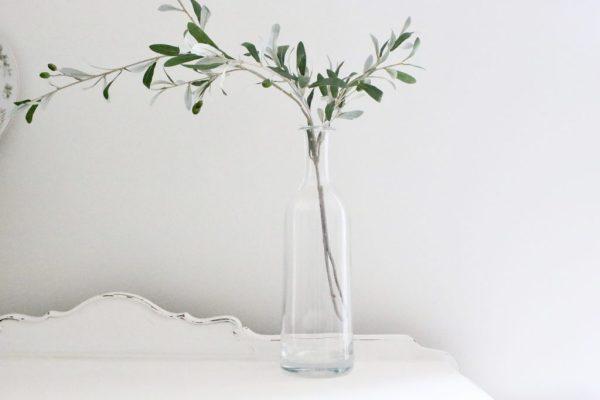 clear, glass, vase, home decor, vintage, flower