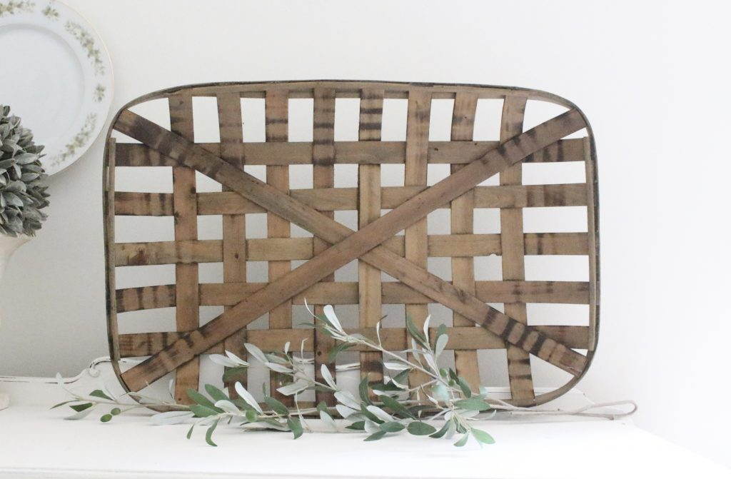 tobacco basket, large, home decor, wall hanging, farmhouse, home decor