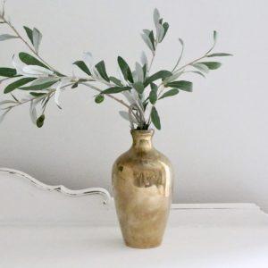 brass- vase- solid- home decor- vintage- flowers- plants