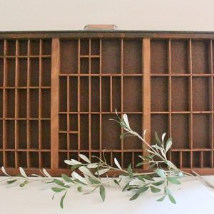 printer's tray- vintage- home decor- farmhouse- cottage- wall hanging