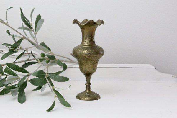 Brass- bud vase- home decor- vintage