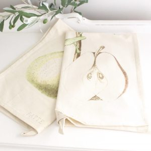 pears- tea towels- kitchen