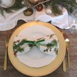 Green & Gold Christmas in the Dining Room