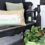 Simple Spring Porch Decor