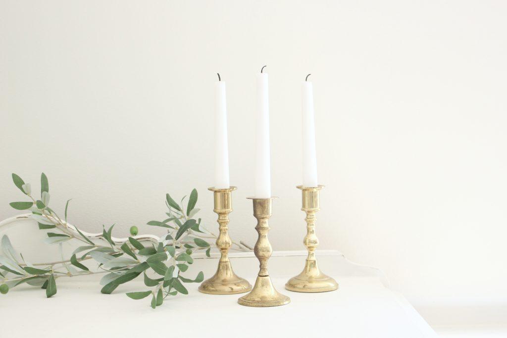 brass- candlesticks- vintage goods- home decor