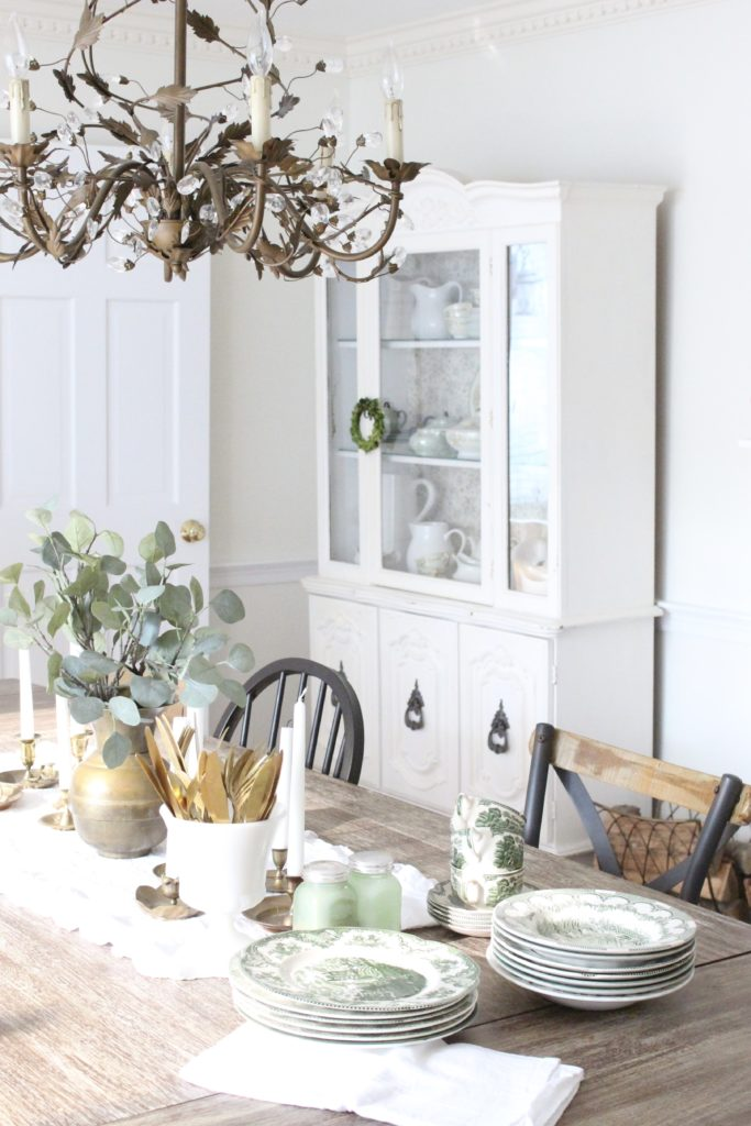 Classic Fall in our Dining Room- painted hutch