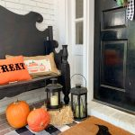 Fall Porch with Touches of Halloween