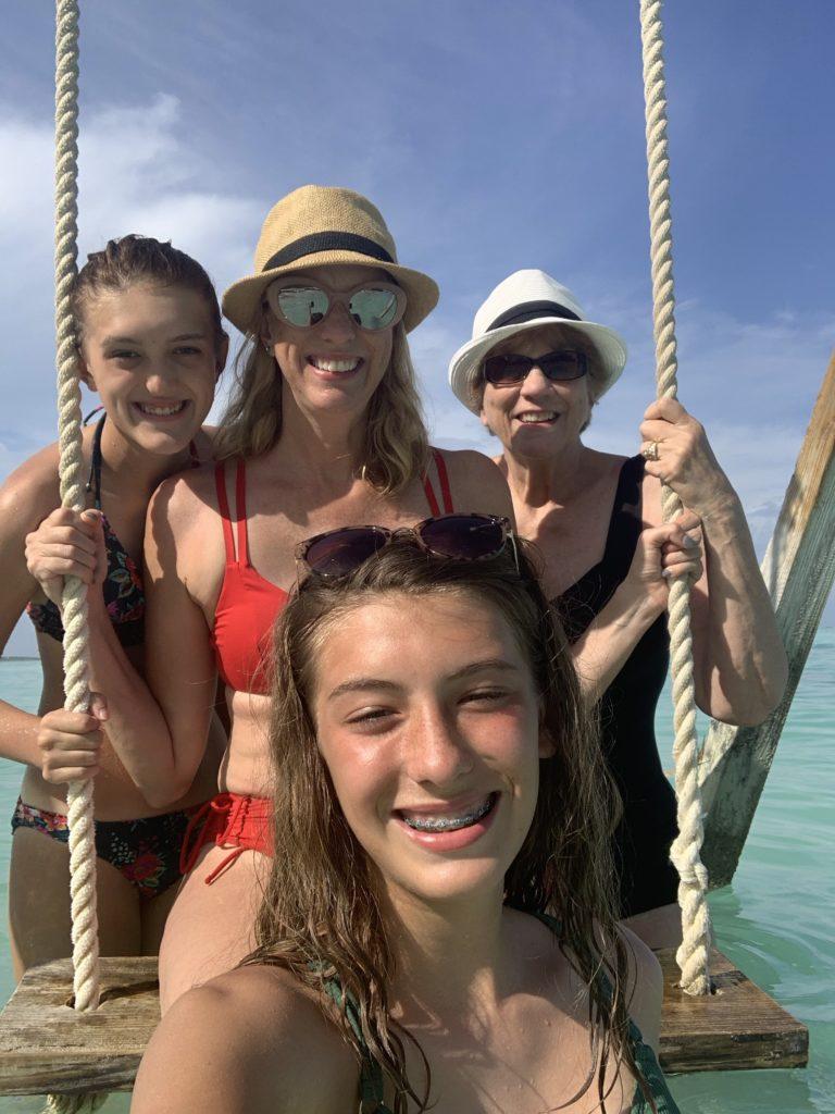 Exuma- Bahamas- swimming with the pigs- swimming pigs- vacation- family vacation- trip- beaches- Caribbean- Grand Isle Resort- Coco Plum Beach, ocean- beach swing
