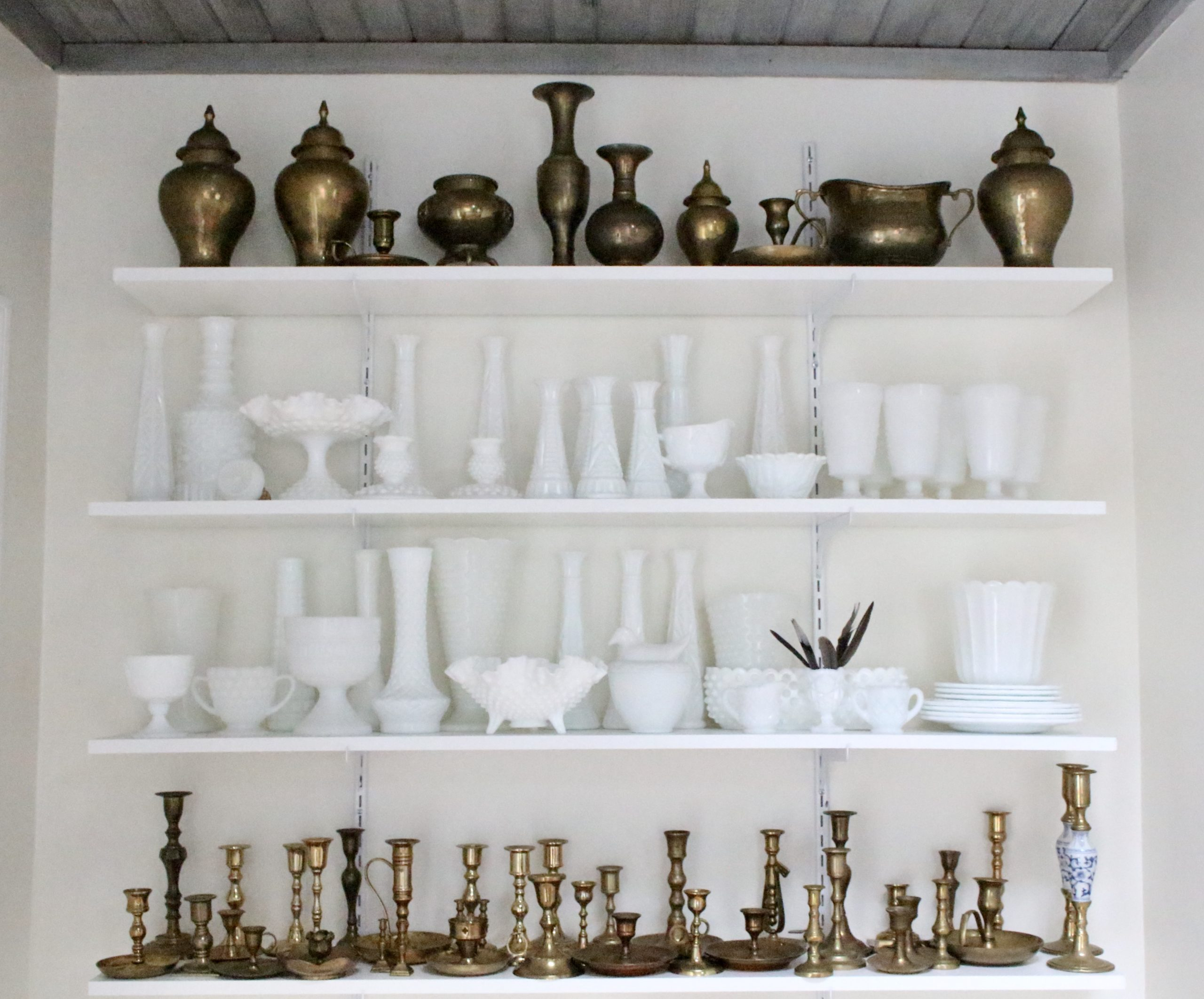 White Milk Glass Collection- vintage milk glass