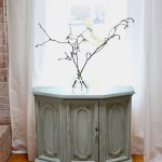 A Thrift Store Cabinet Makeover With Green Paint