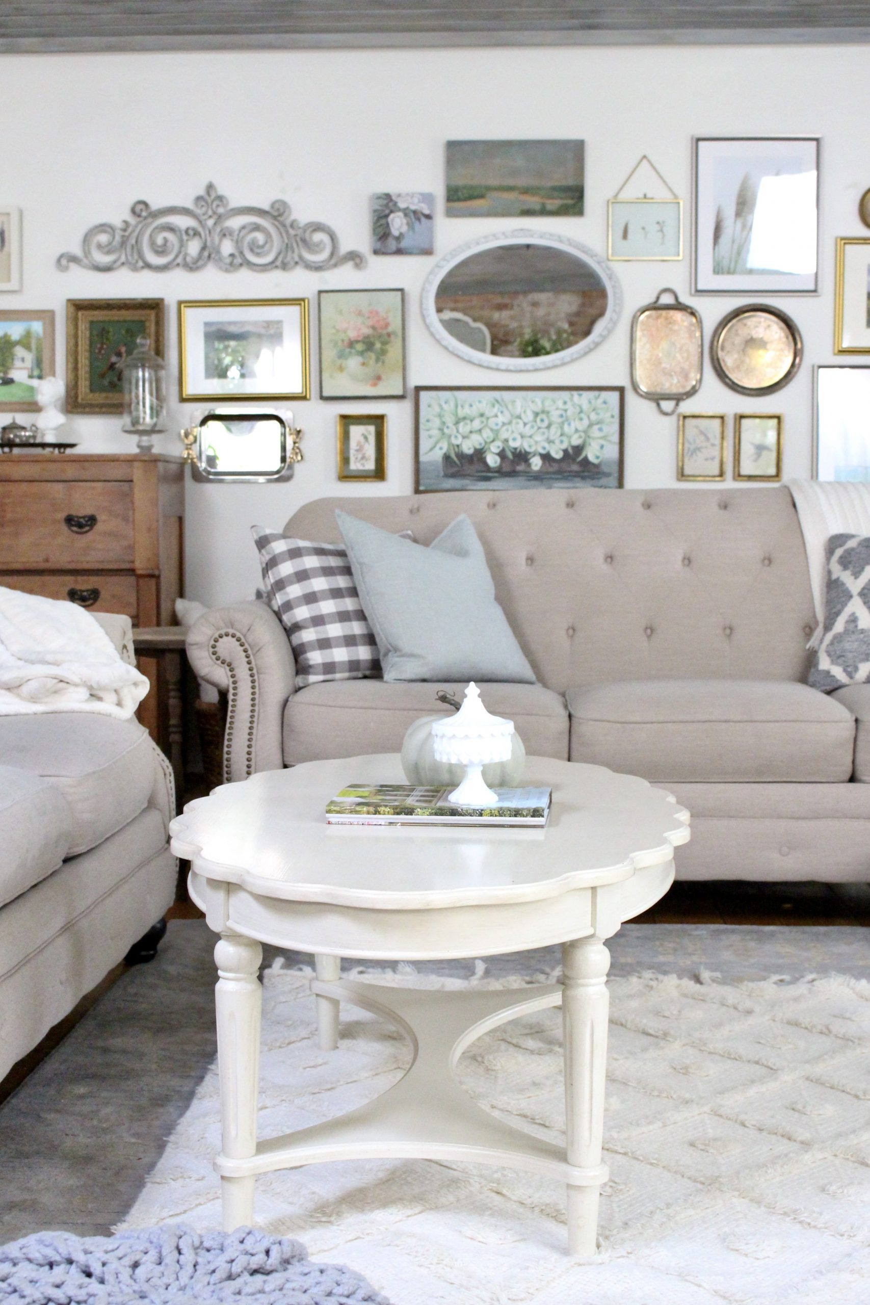 Fall Family Room Tour with Textures and Cozy details~ White Cottage Home & Living