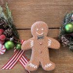 Gingerbread Hoop Wreath~ White Cottage Home & Living